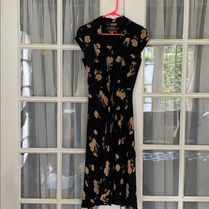 Reformation New w/o Tags Black Floral Midi Dress